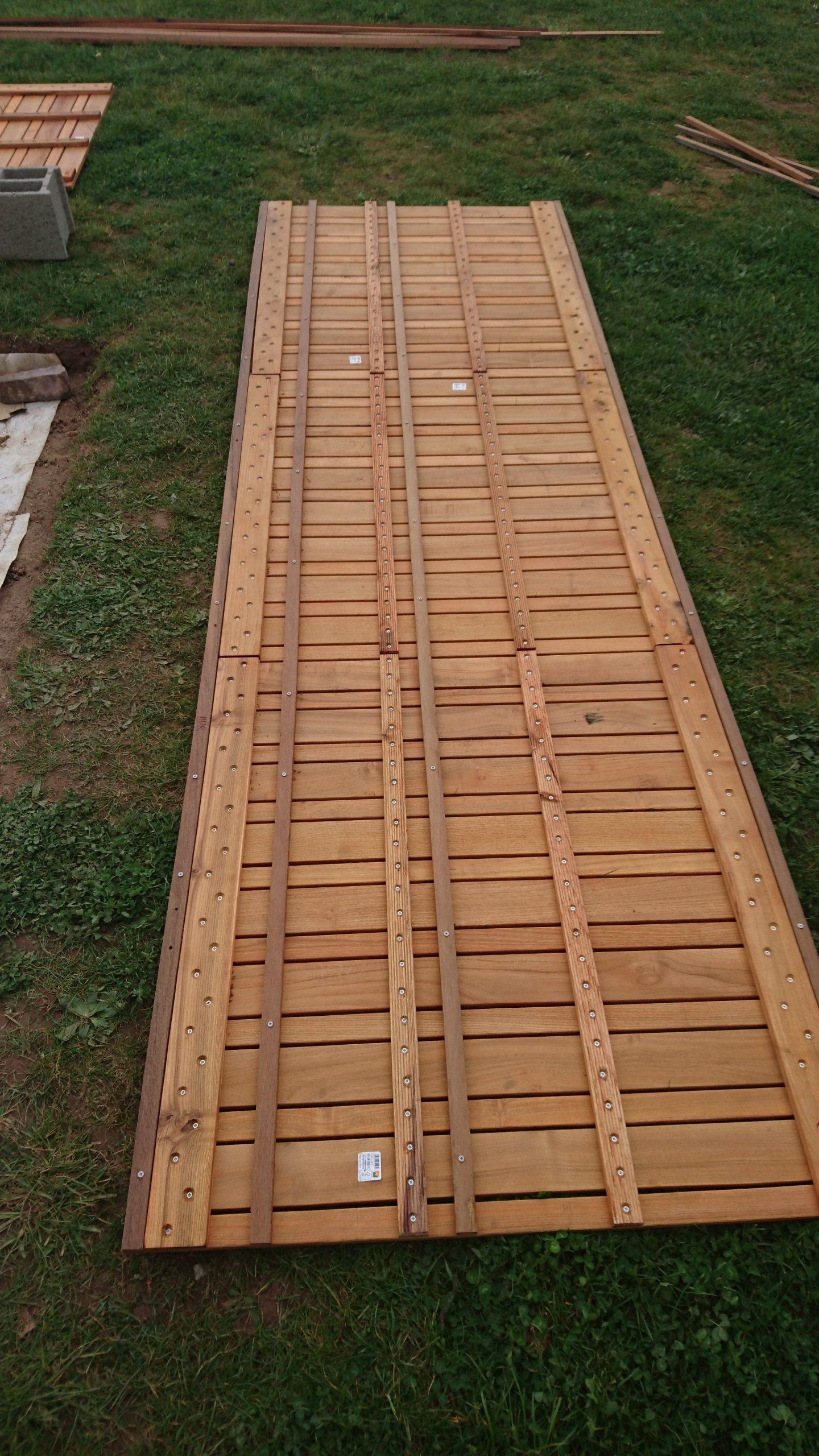 Construire Sa Terrasse Sur De La Terre Meuble - Construction ... intérieur Dalle Robinier
