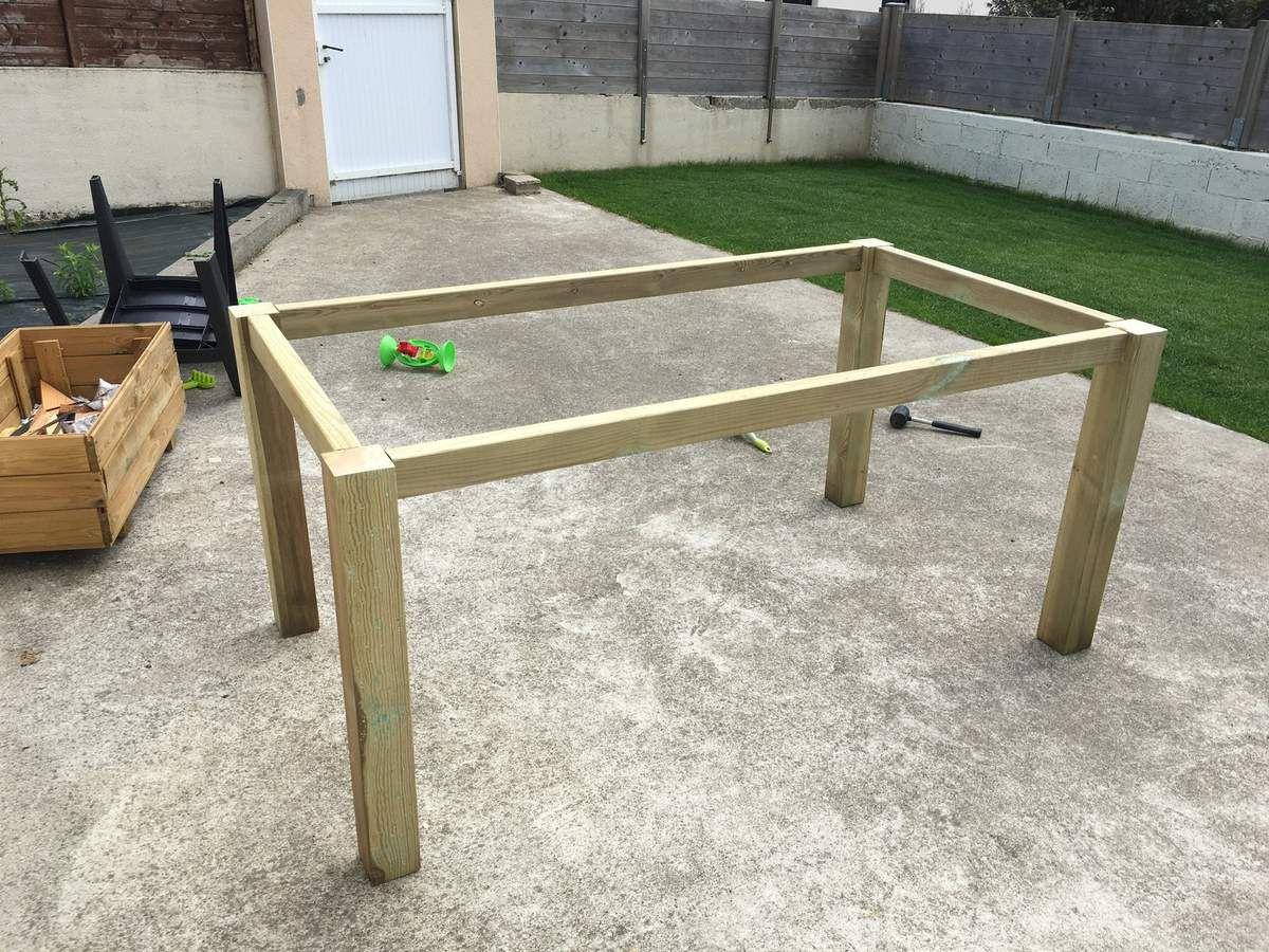 Construire Une Table Pour Votre Jardin - Bric'olive avec Fabriquer Une Table De Jardin En Bois