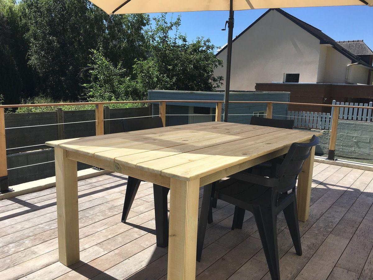 Construire Une Table Pour Votre Jardin - Bric'olive dedans Fabriquer Une Table De Jardin En Bois