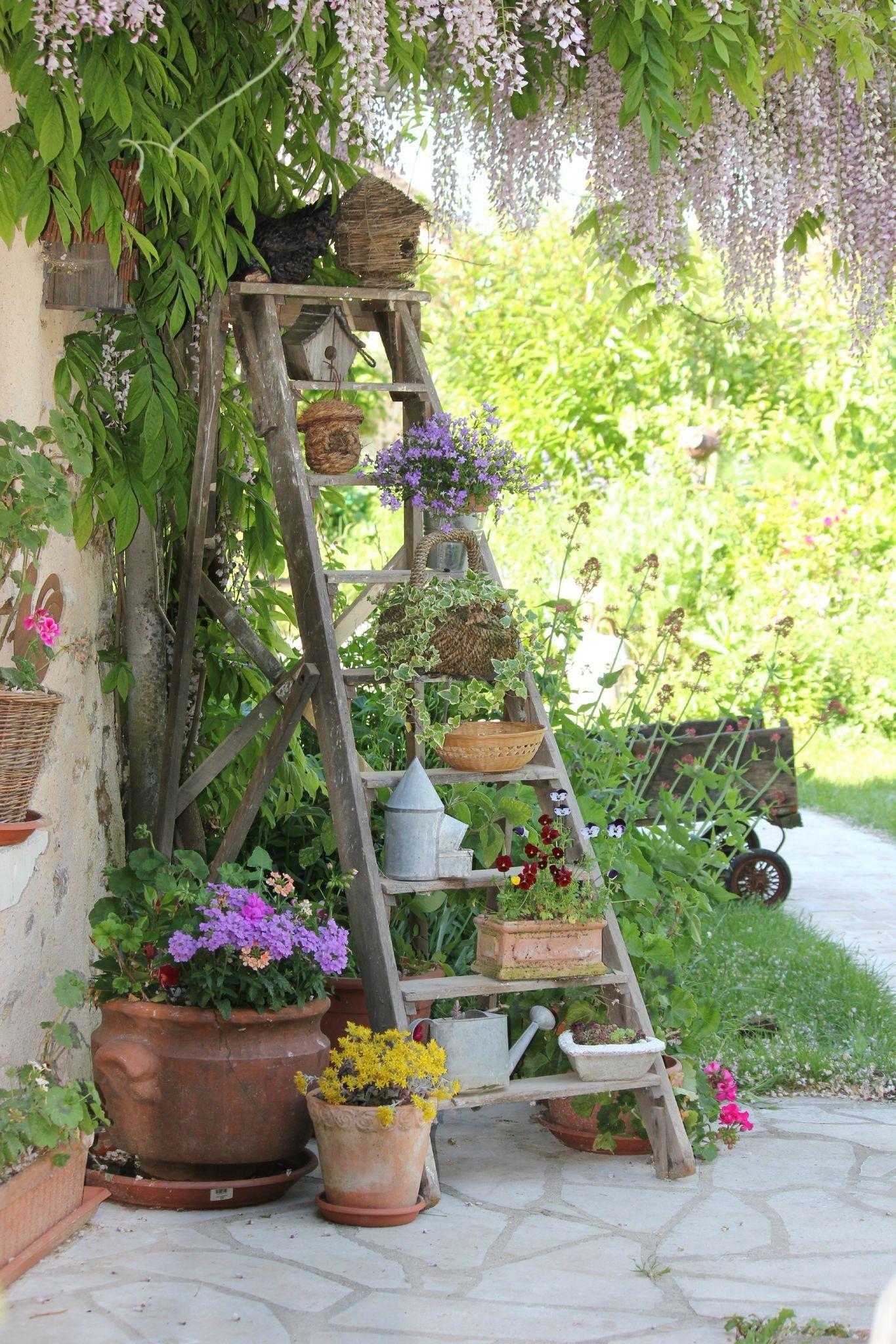 Country Shabby Chic | Decoration Jardin, Idées De Jardin ... concernant Idee Deco Jardin