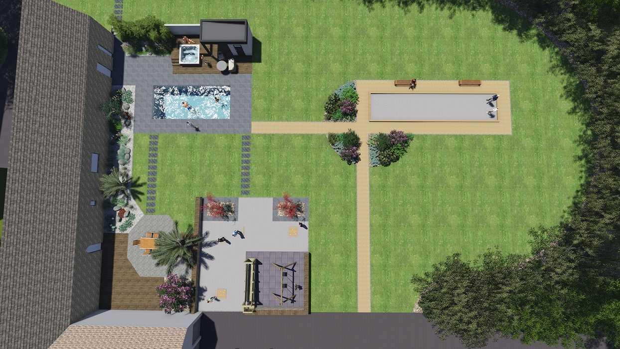 Création De Plans De Jardin 3D - Piscine, Spa, Aménagement ... serapportantà Plan De Jardin 3D