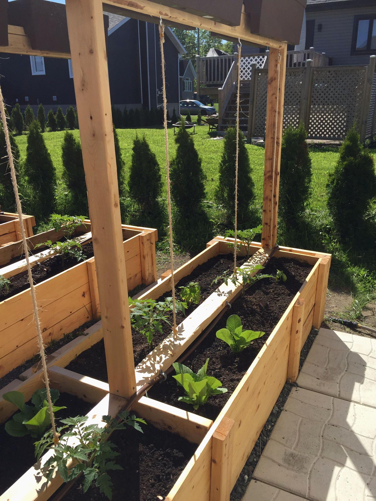 Créer Des Bacs De Jardin Avec Des Palettes Impressionnant ... pour Créer Des Bacs De Jardin Avec Des Palettes