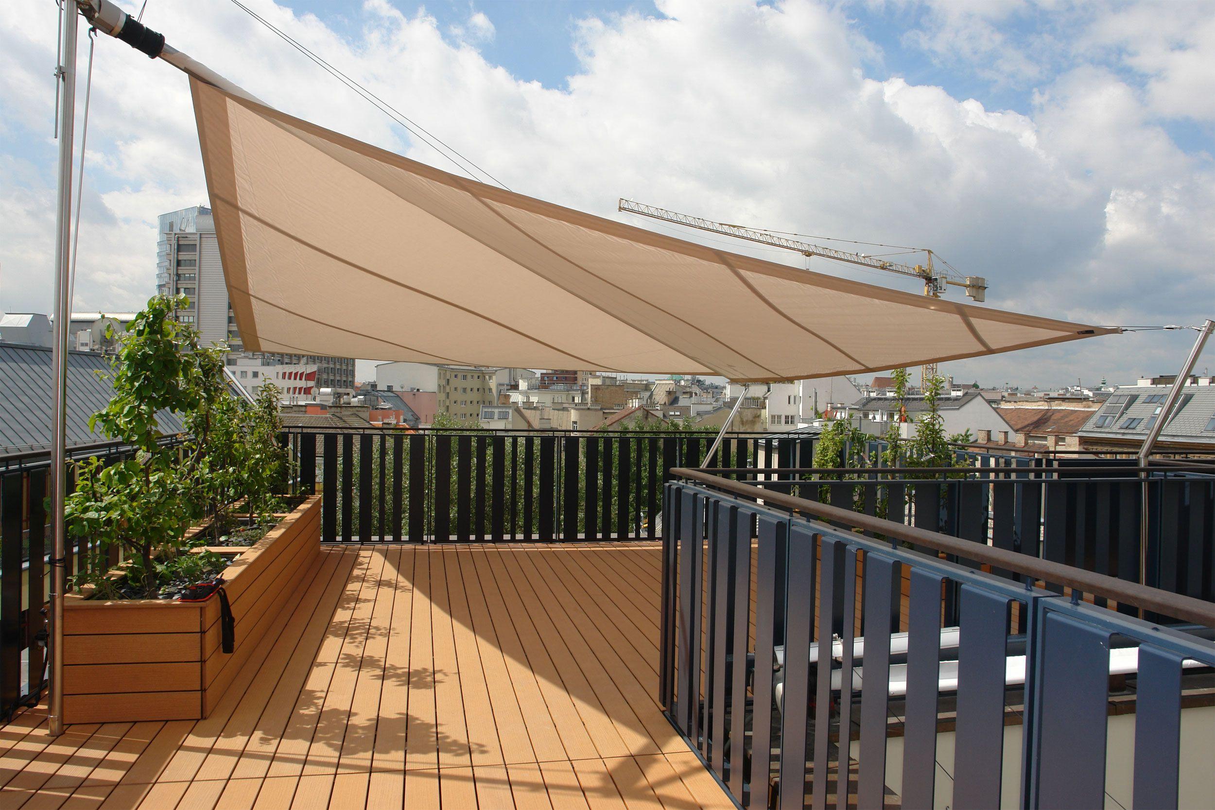 Dachterrasse, Österreich | Sunsquare Sonnensegel ... à Pose Terrasse Antony