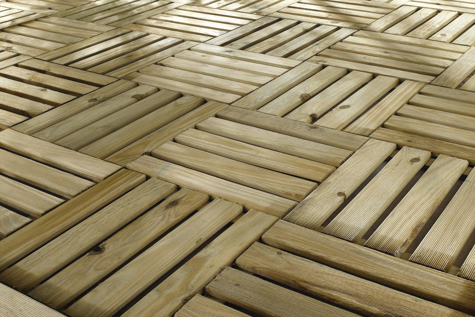 Dalle Bois Primo, L.40 X L.40 Cm X Ep.24 Mm concernant Dalle Bois Akola