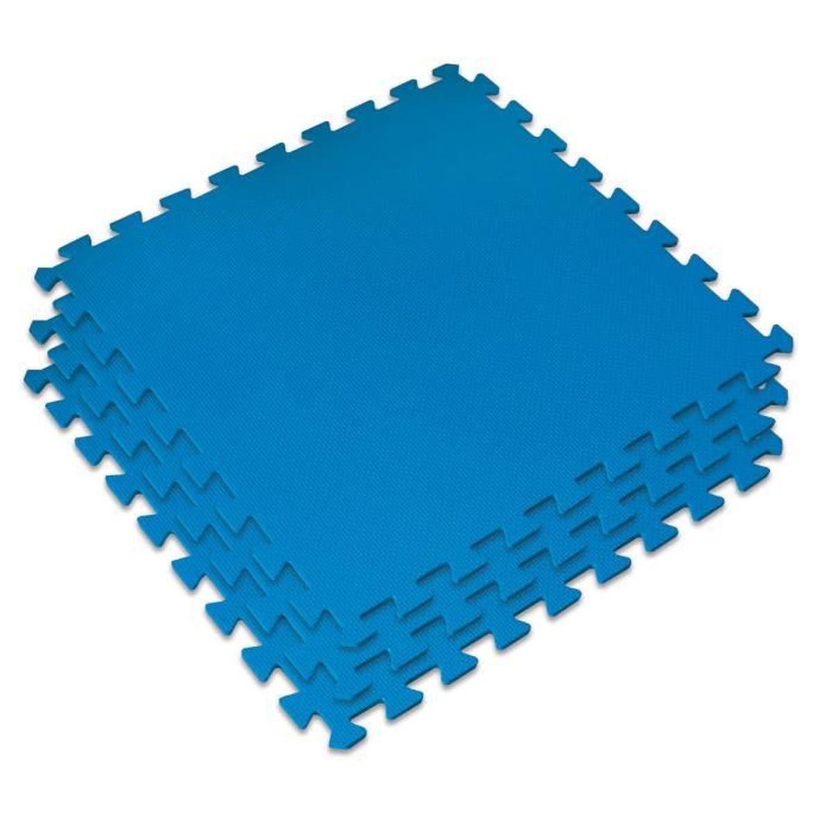 Dalle De Protection Pour Le Sol Kokido 60X60 Cm (Bleu ... à Dalle Caoutchouc Piscine