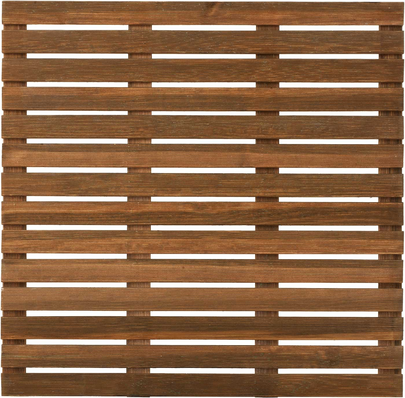 Dalle De Terrasse En Bois Européen Pin Sylvestre 100 X 100 X 2,8 Cm Brun pour Dalle Caillebotis Bois 100X100