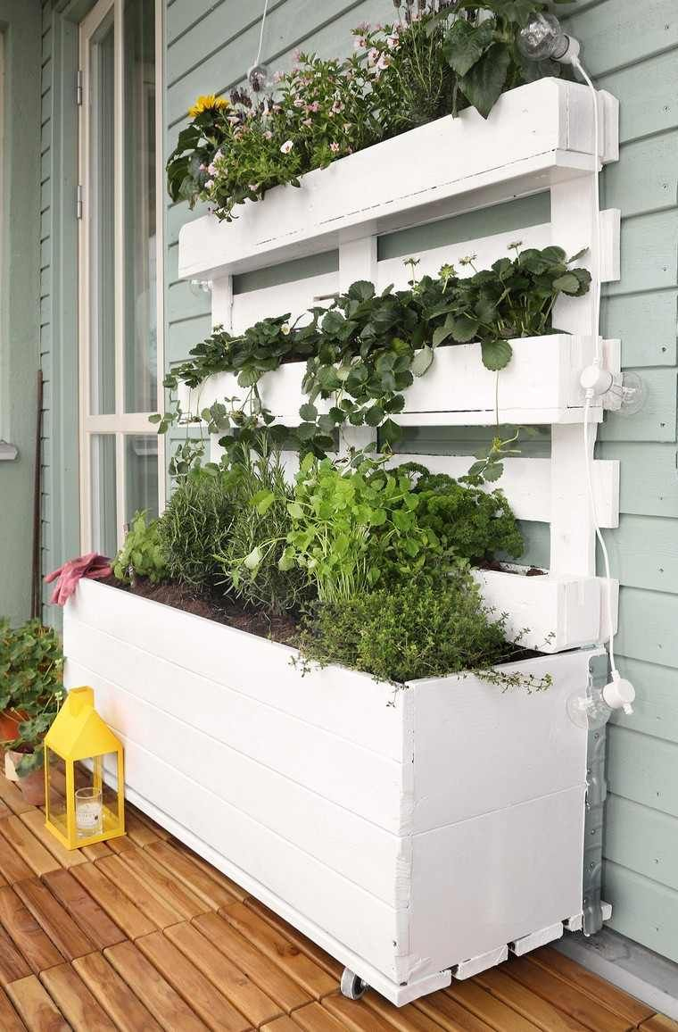 Deco Avec Palette Pour L'intérieur / Jardiniere En Palette ... à Idee Deco Exterieur