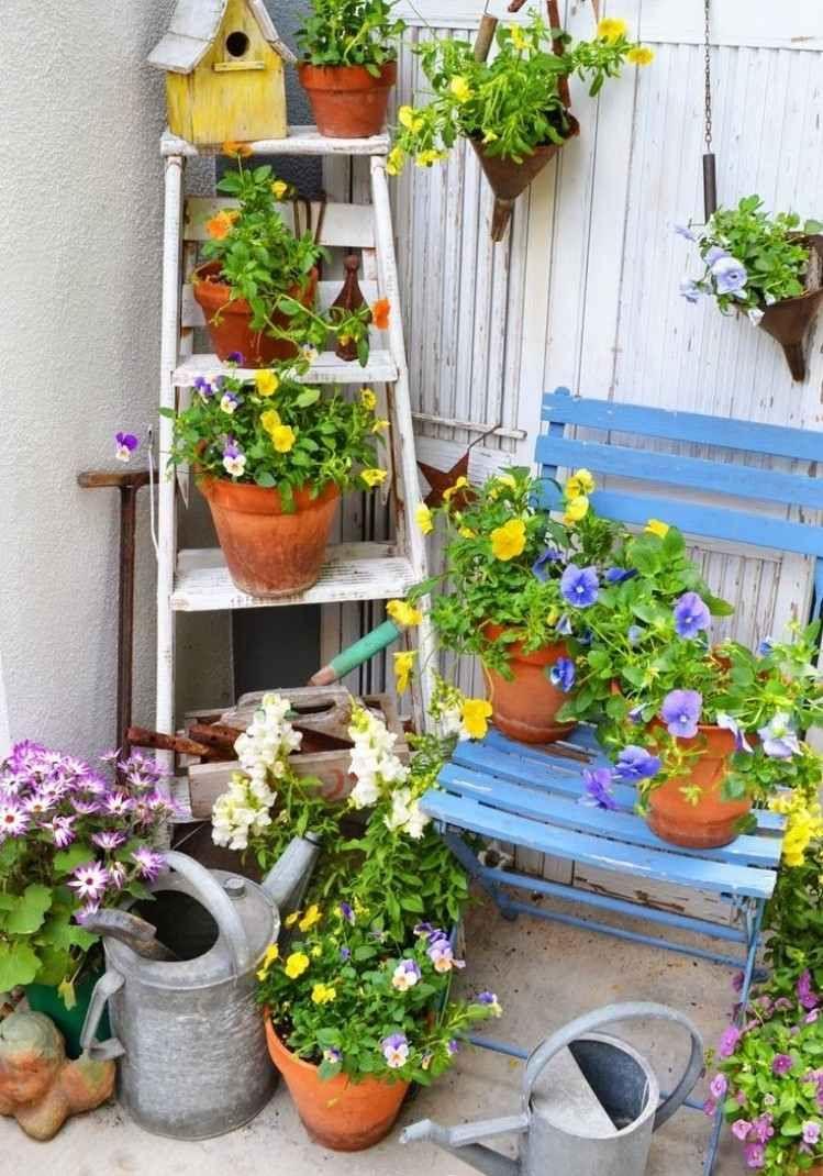 Déco Jardin Diy: Idées Originales Et Faciles Avec Objet De ... concernant Idee Deco Jardin