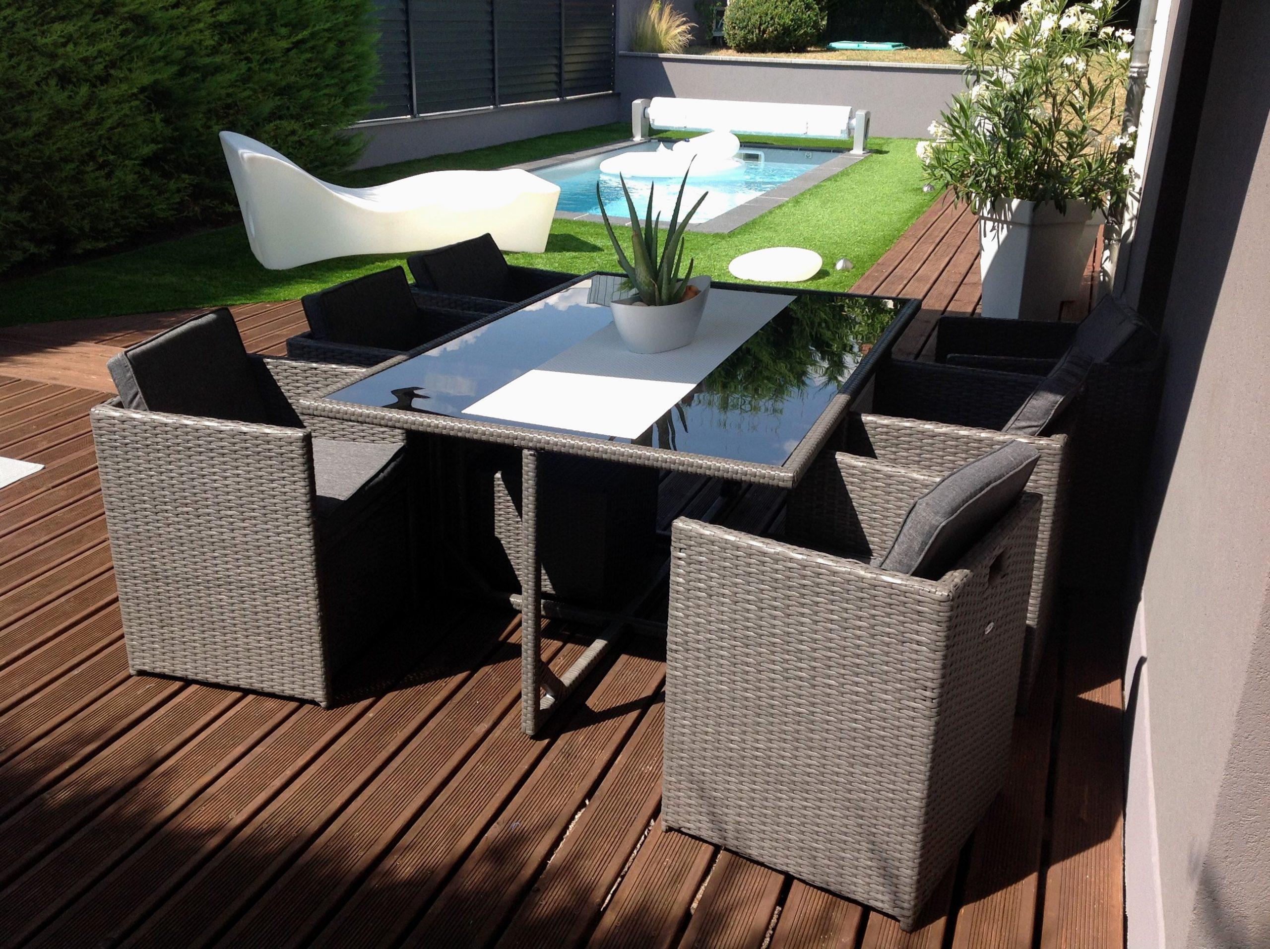 Destockage Mobilier Jardin Resine Tressee Fantastique Chaise ... serapportantà Salon De Jardin Resine Occasion