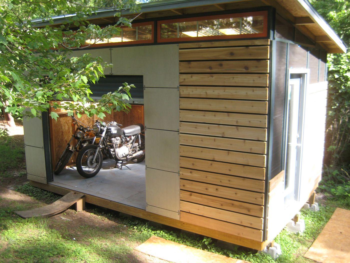 Diy Modern Shed Project | Design Petite Maison, Hangar ... dedans Ides Abri Moto