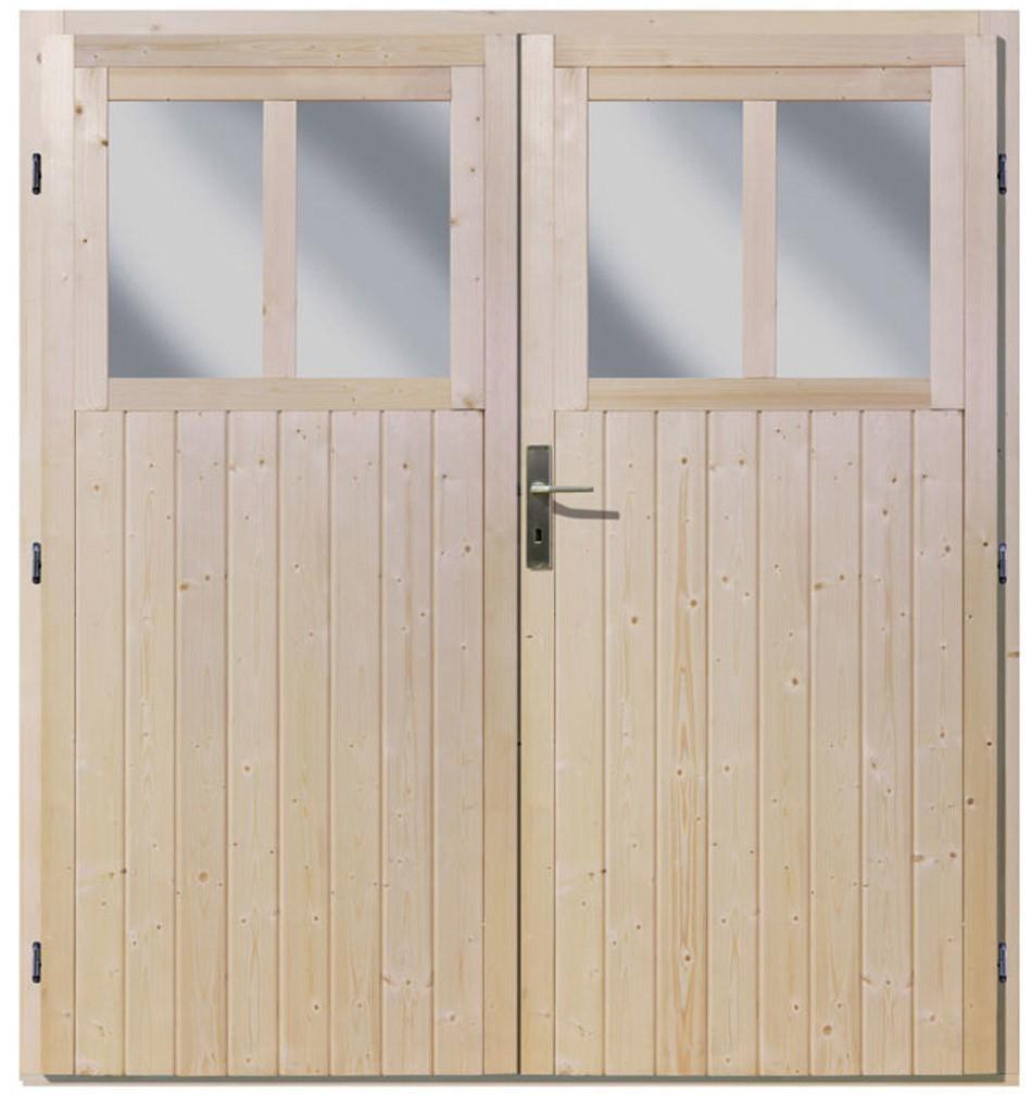 Double Porte Pour Abri De Jardin Wandlitz 19 Mm Fenêtres ... avec Porte Abri De Jardin 2 Vantaux