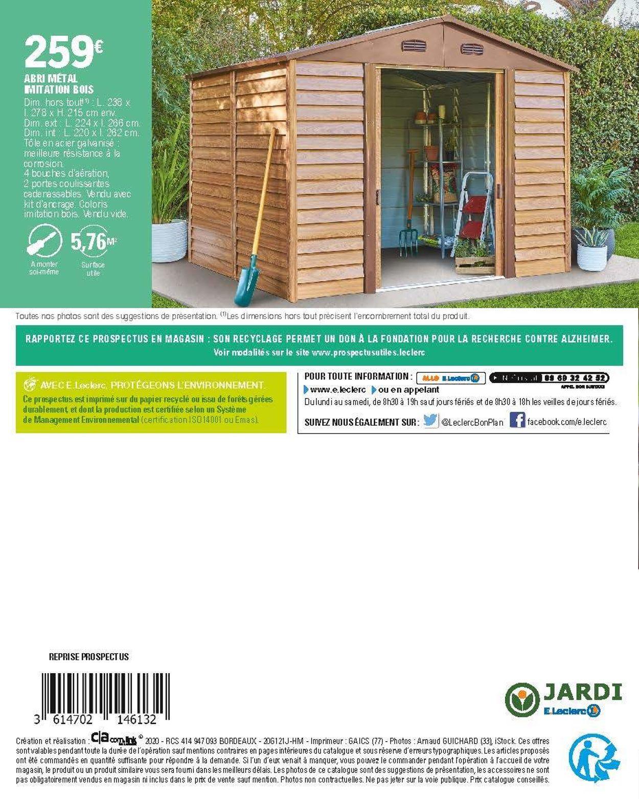 E Leclerc Catalogue Actuel 11 02 22 02 2020 28 Avec Abris De Jardin Leclerc Idees Conception Jardin Idees Conception Jardin