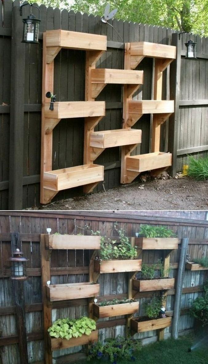 ▷ 1001 + Tutoriels Et Idées Pour Fabriquer Une Jardinière ... intérieur Créer Des Bacs De Jardin Avec Des Palettes