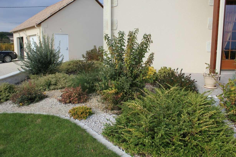 Épinglé Sur Devanture Maison avec Idee Amenagement Jardin Devant Maison