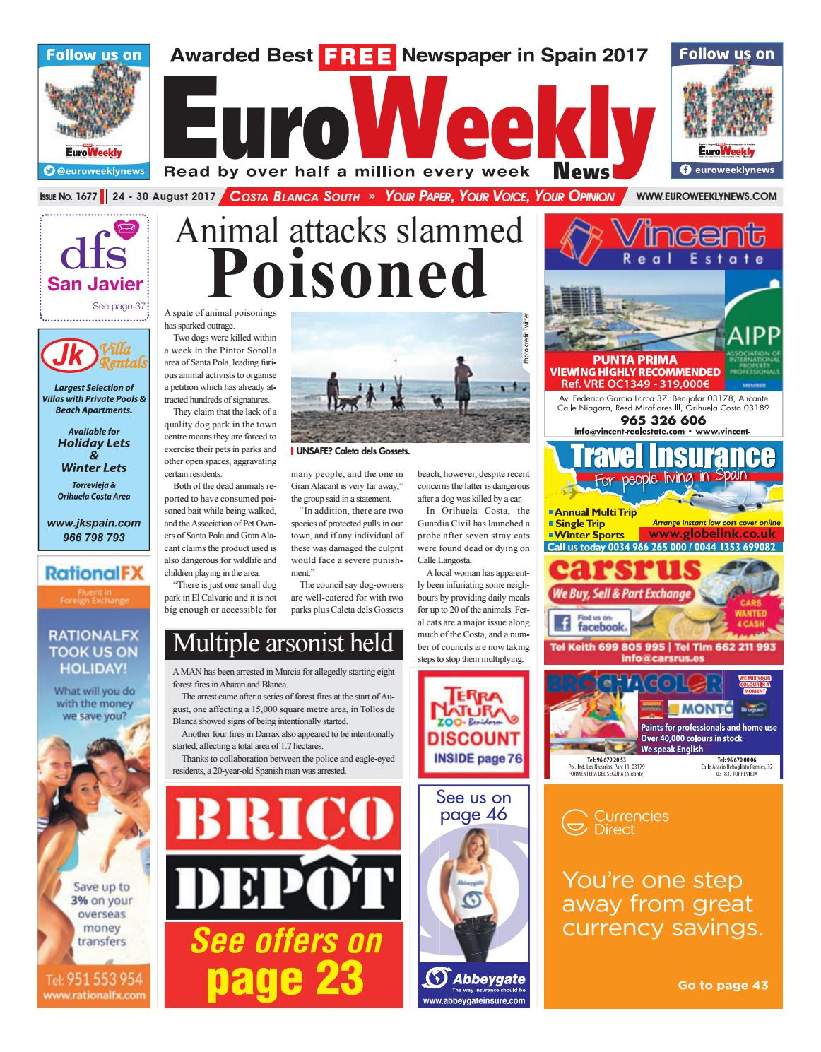 Euro Weekly News - Costa Blanca South 24 – 30 August 2017 ... intérieur Trepan Brico Depot