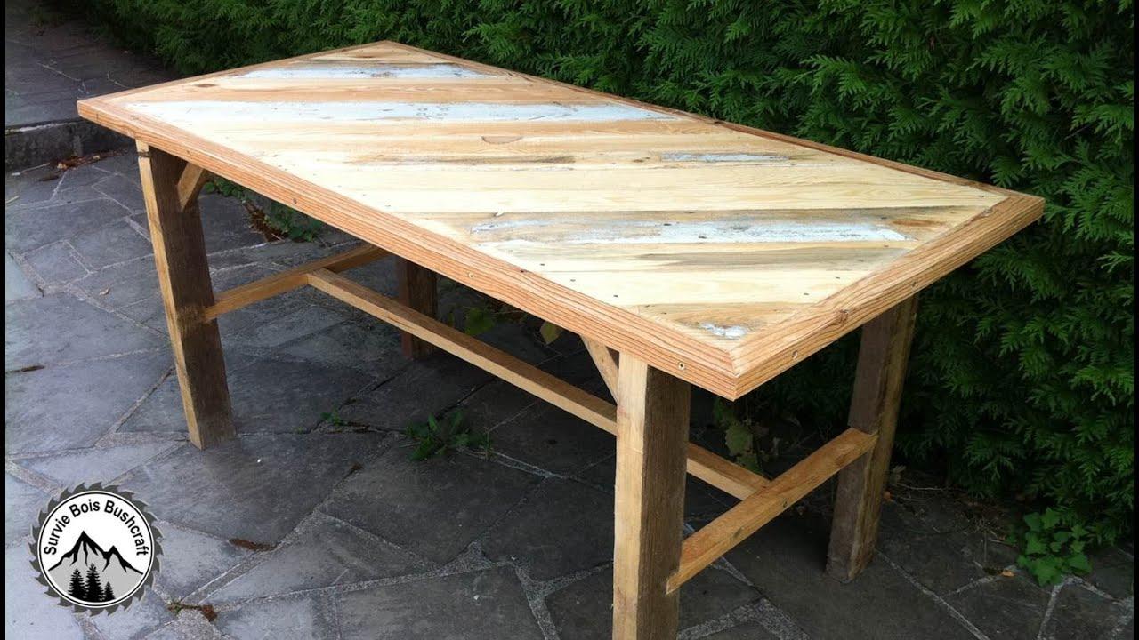 Fabrication D'une Table Solide En Bois De Récupération - Partie 1 tout Fabriquer Une Table De Jardin En Bois