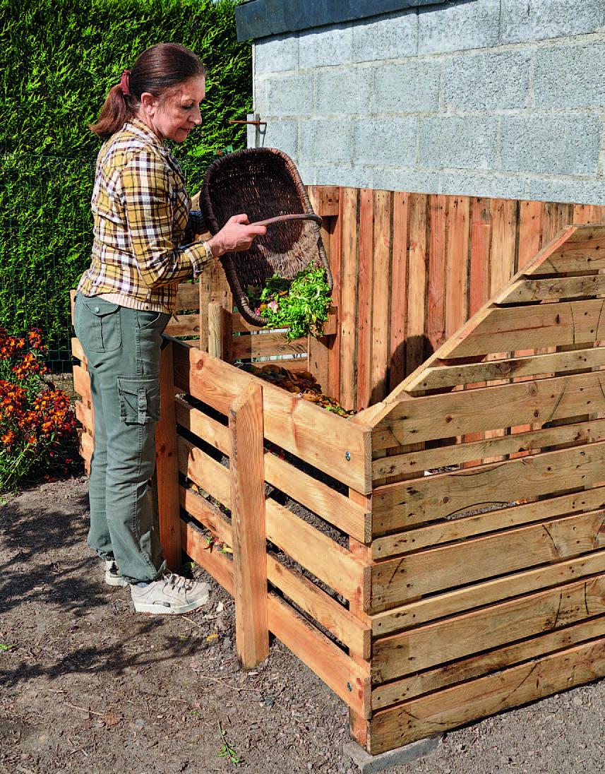Fabriquer Un Composteur En Bois De Palette | Composteur Bois ... dedans Créer Des Bacs De Jardin Avec Des Palettes