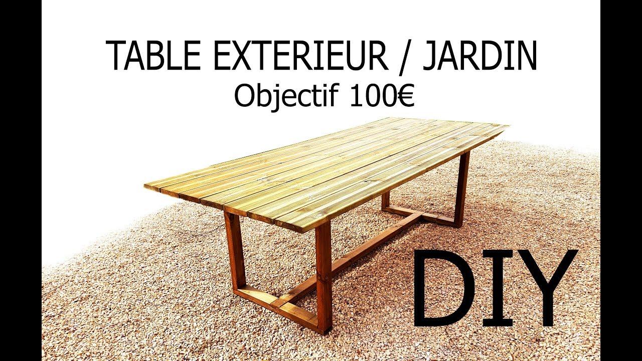 Fabriquer Une Table D'Extérieur/jardin Pour - De 100€ dedans Fabriquer Une Table De Jardin En Bois
