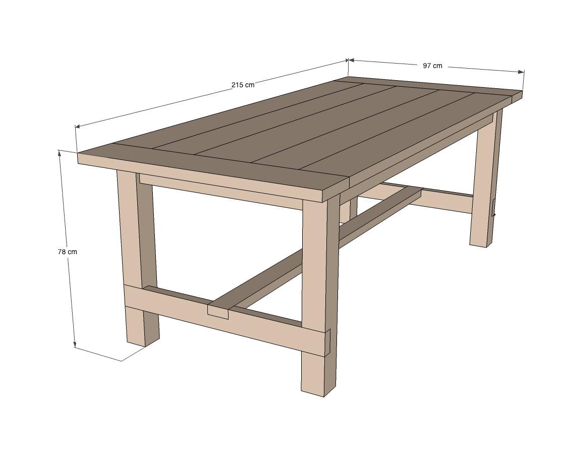 Fabriquer Une Table Robuste   Étape Par Étape   Brico.be intérieur Fabriquer Une Table De Jardin En Bois