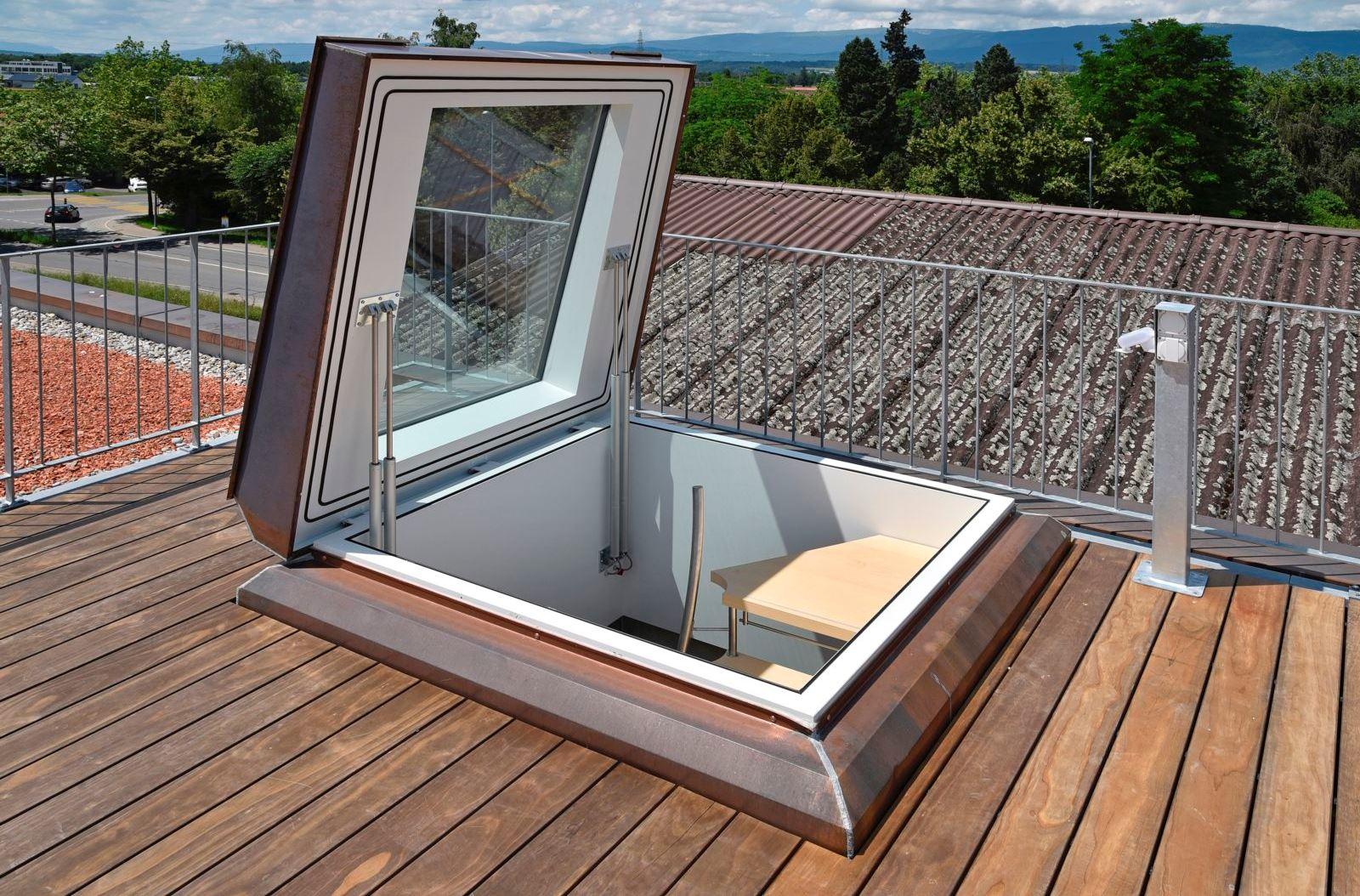 Feldmann+Co Ag - Accès Au Toit avec Trappe D'accès Toiture Terrasse