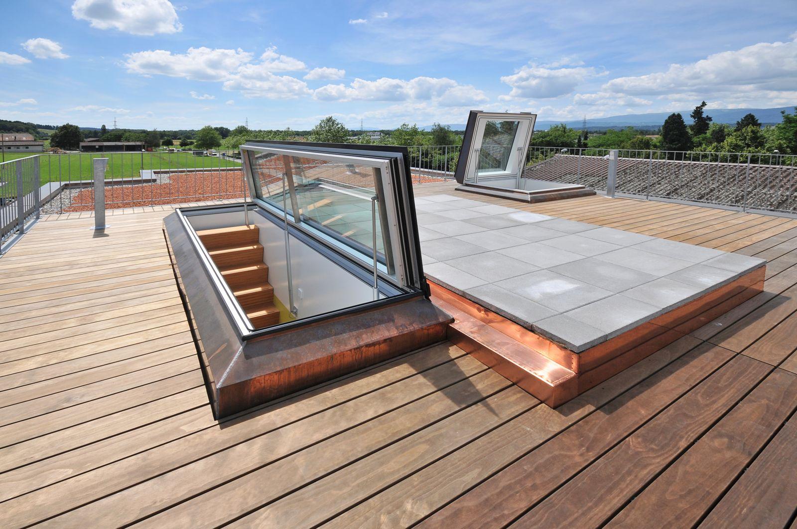 Feldmann+Co Ag - Escaliers Mobiles tout Trappe D'accès Toiture Terrasse