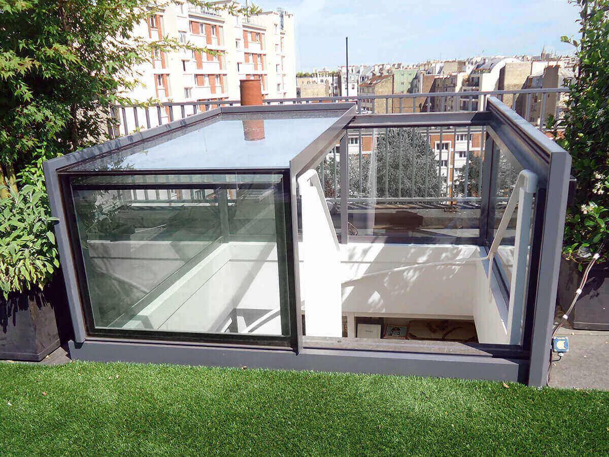 Fenête D'accès Toiture - Freestanding Box Rooflight ... destiné Trappe D'accès Toiture Terrasse