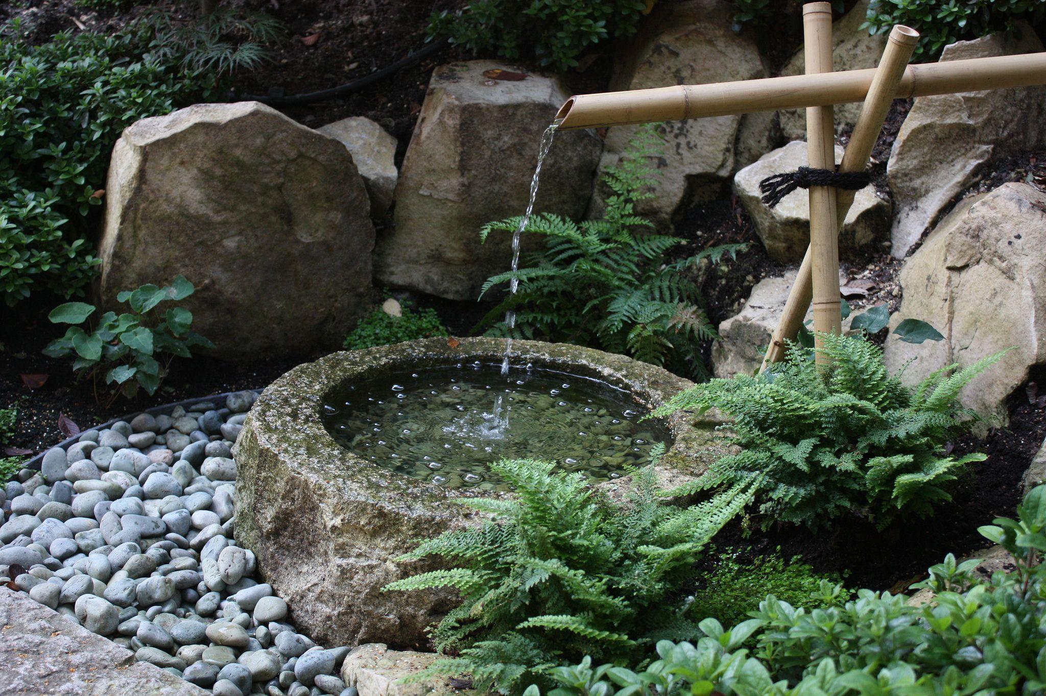 Fontaine Japonaise   Small Japanese Garden, Japanese Water ... dedans Jardin Zen Avec Fontaine