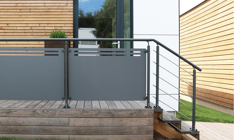 Garde-Corps Et Escaliers Pour Terrasses En Bois - Grad Concept - à Balustrade Bois Extérieur Pas Cher