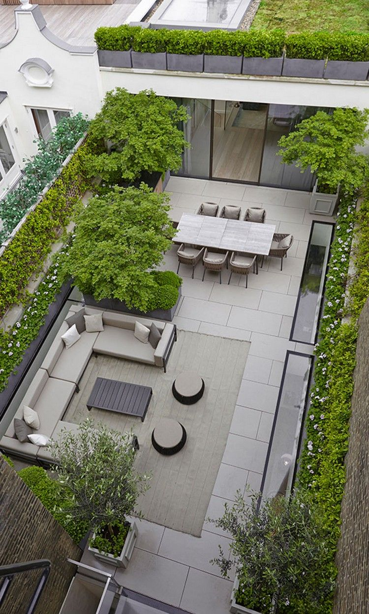 Gartenplanung Ideen Aus Der Vogelperspektive – 20 Moderne ... à Parterre Jardin Moderne