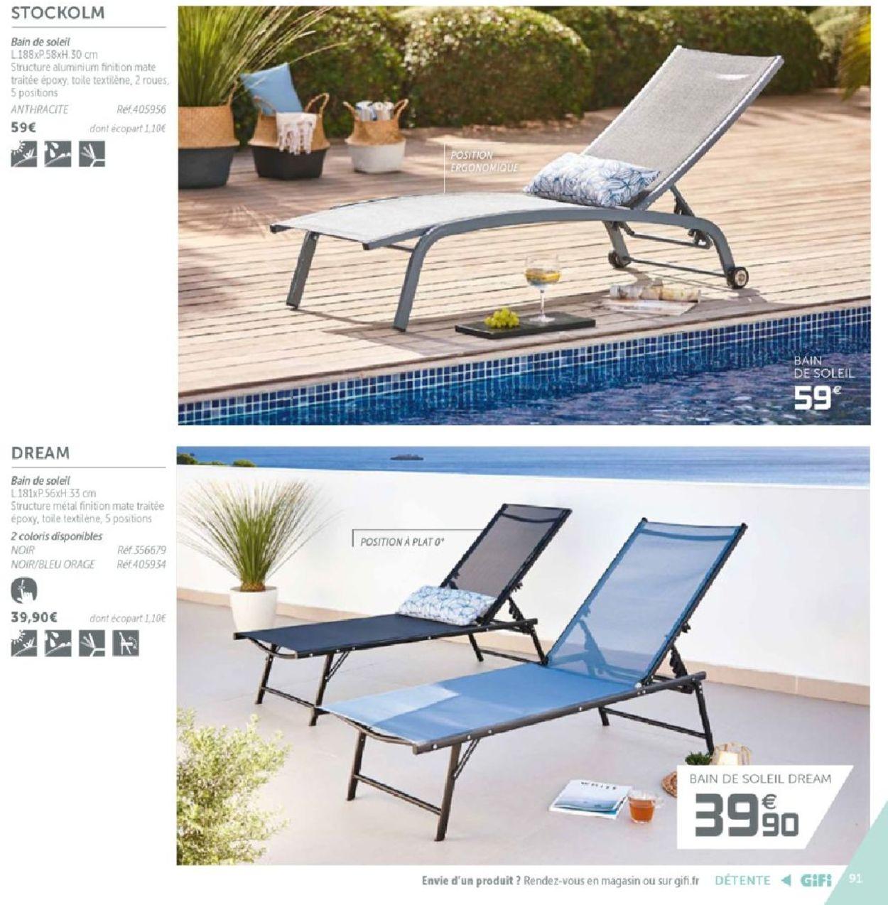 Gifi Catalogue Actuel 14.03 - 31.12.2019 [91] - Catalogue-24 serapportantà Bain De Soleil Dream
