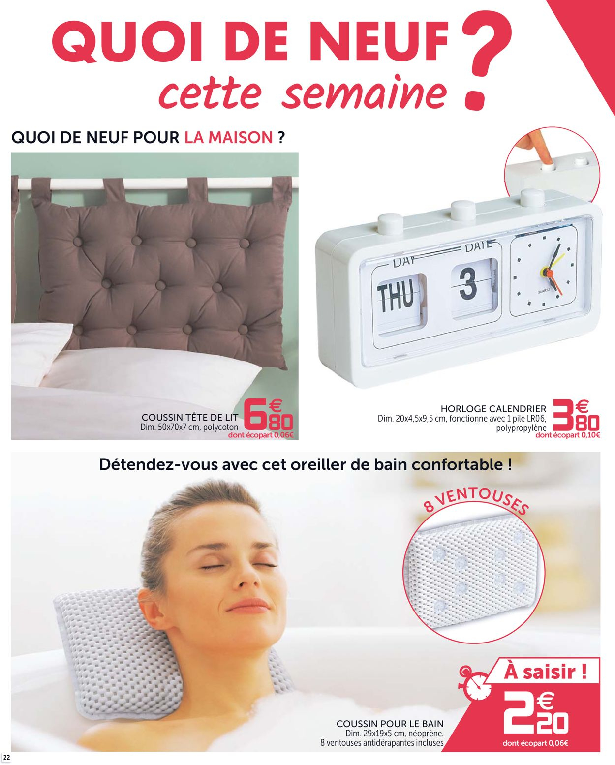 Gifi Catalogue Actuel 21.01 - 03.02.2020 [22] - Catalogue-24 intérieur Coussin Tete De Lit Gifi