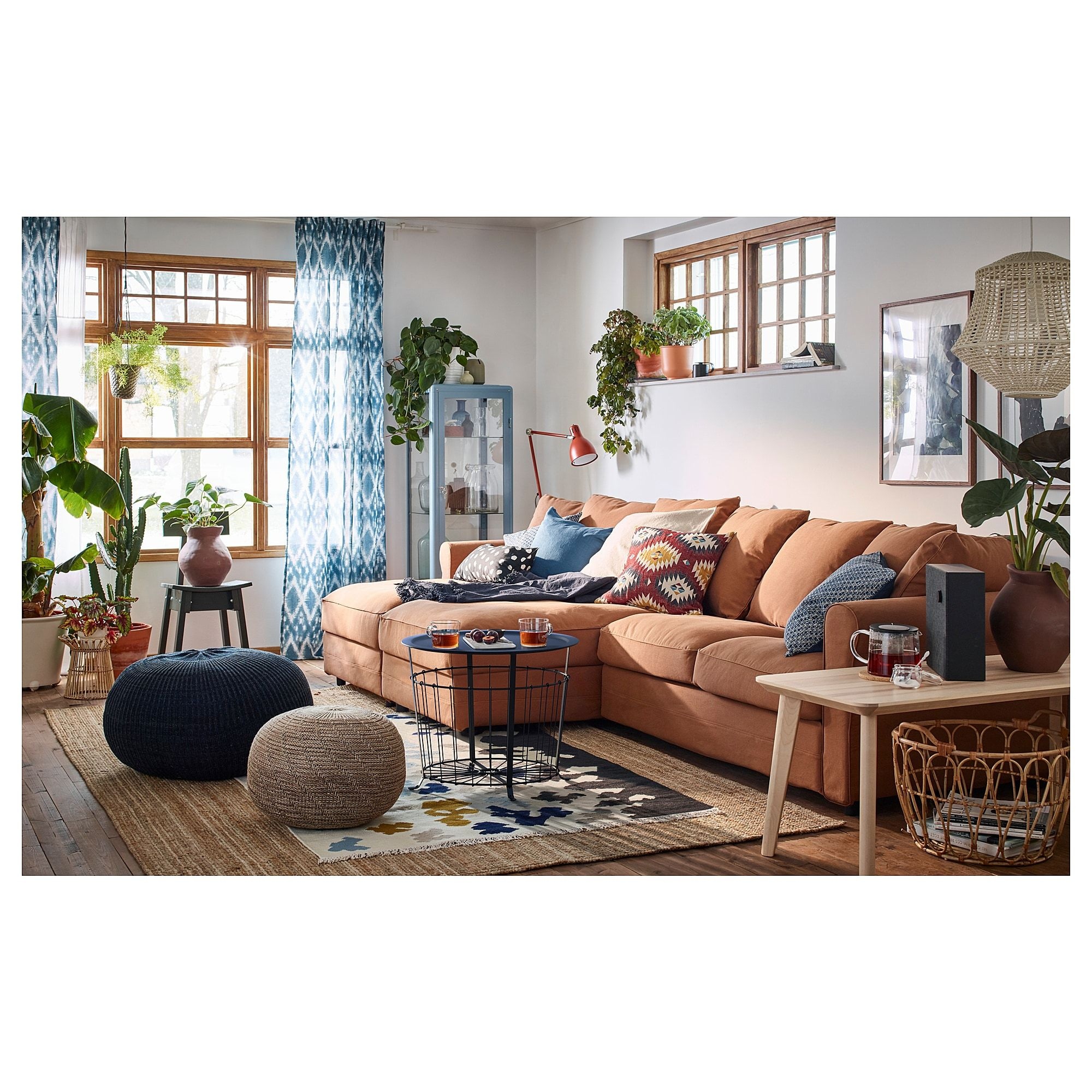 Grönlid Sectional, 4-Seat - With Chaise, Ljungen Medium Gray ... intérieur Grönlid Avis