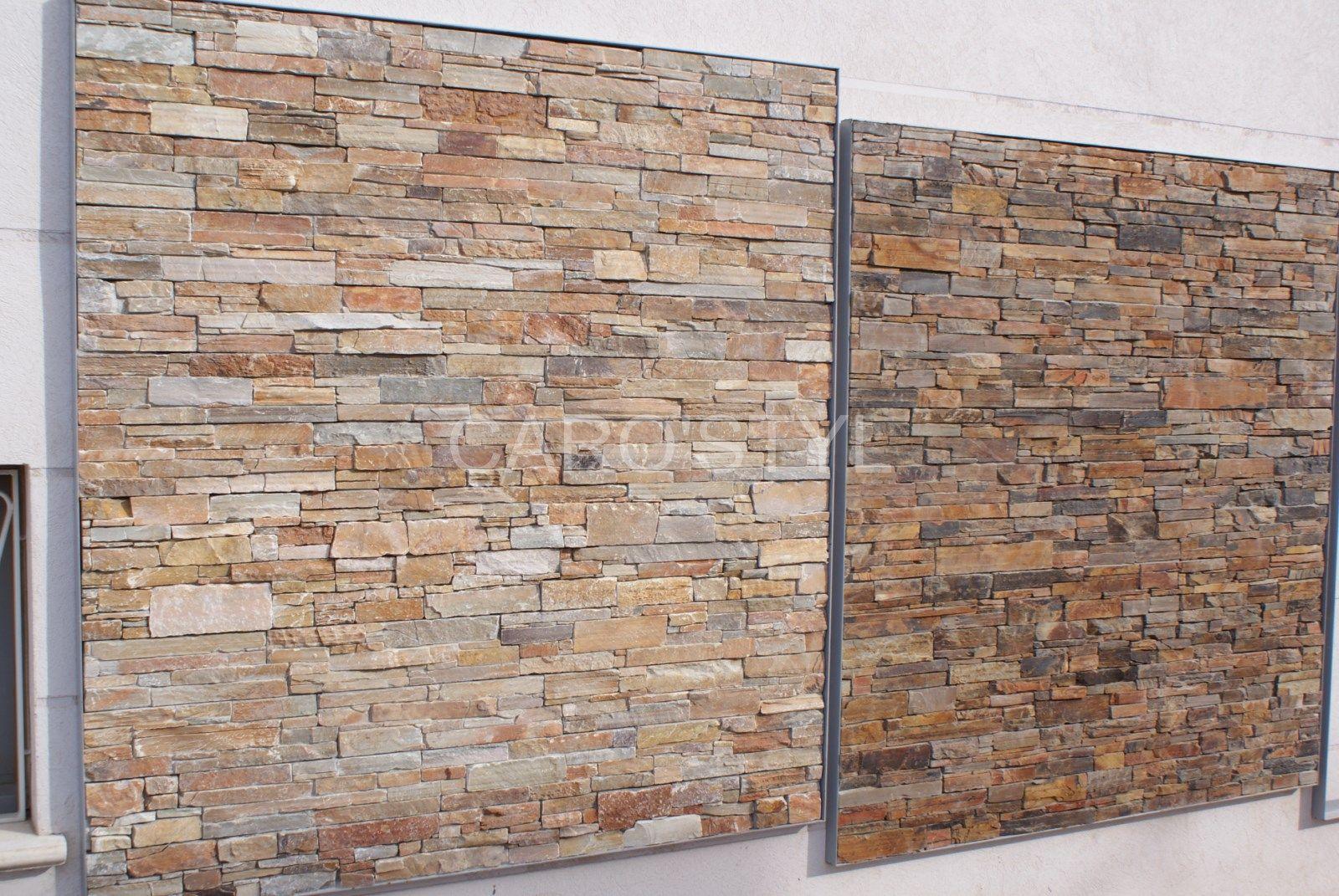 Habiller Son Mur Extérieur Ou Intérieur En Pierre Naturelle ... intérieur Carrelage Pour Mur Extérieur