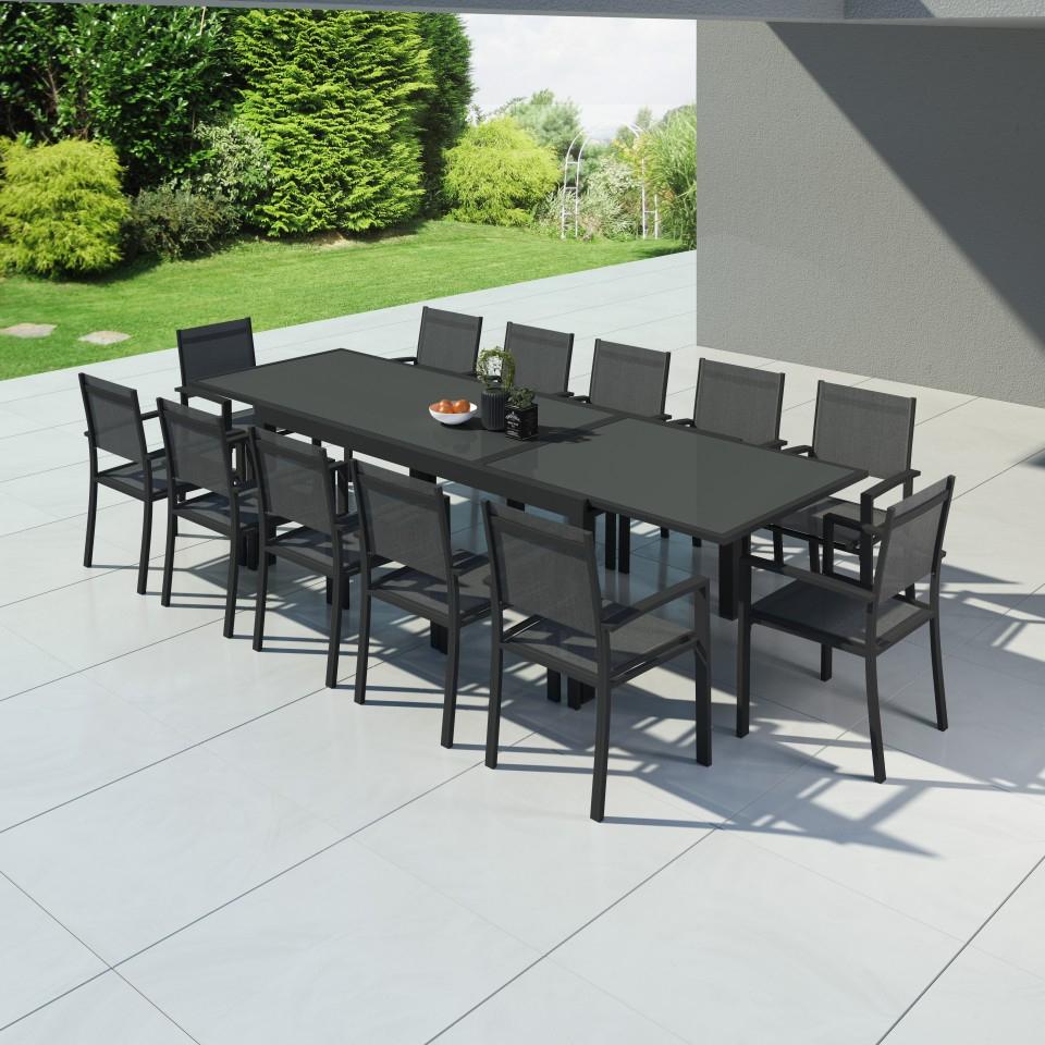 Hara Xxl - Table De Jardin Extensible Aluminium 200/320Cm + ... avec Table De Jardin Extensible 320 Cm