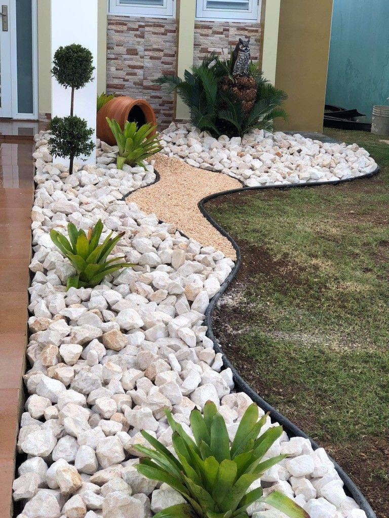 Idée Par Ingrid Sur Jardin En 2020 | Aménagement Paysager ... concernant Idee Amenagement Jardin Devant Maison
