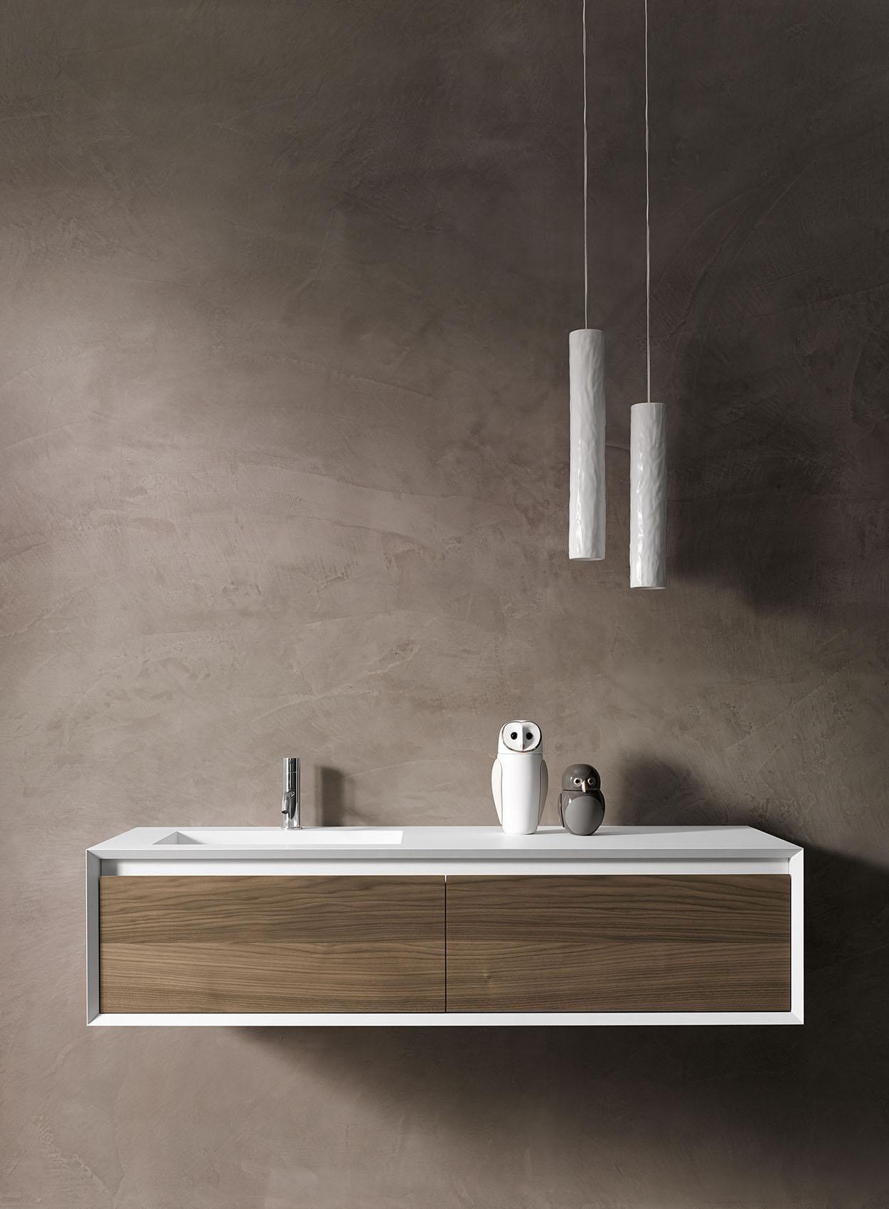 Iks Full Fenix Blanc Façade Walnut | Modern Bathroom, Bath ... concernant Stocco Iks Full