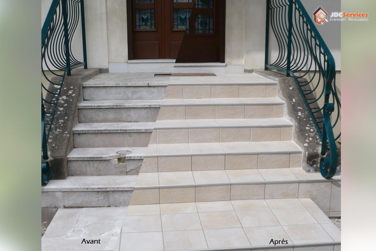 Jdc-Services: Carreleur Dijon Et Sa Région   Faïence serapportantà Carrelage Escalier Extérieur