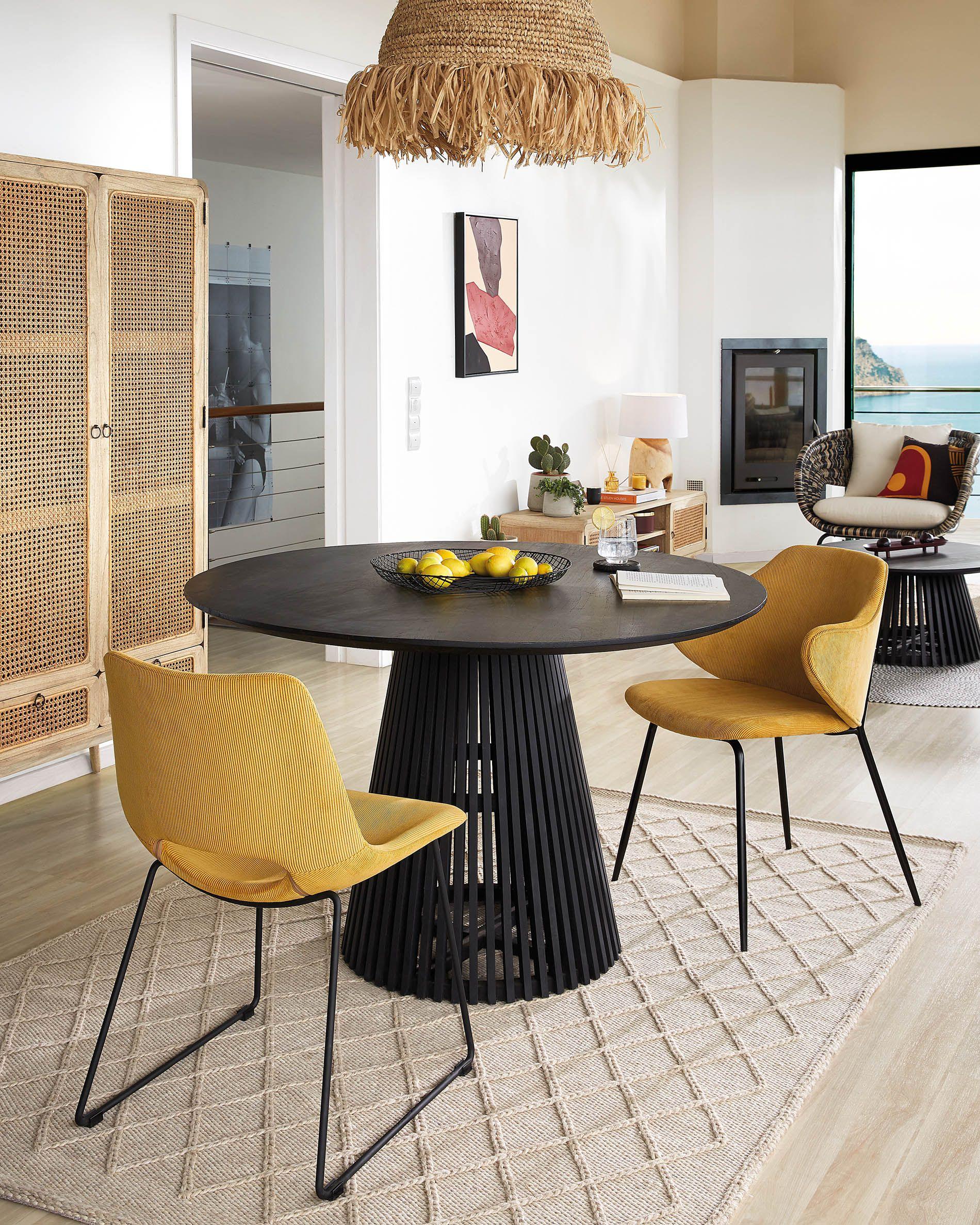 Jeanette Ø 120 Cm Black Table | Kave Home® concernant Kave Home