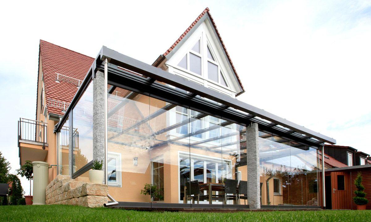 Kaltwintergarten Aus Alu Und Glas Mit Granit-Pfosten Von Mwk ... destiné Pergola Alu Pour Mobil Home