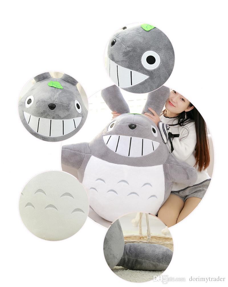 Kawaii Jumbo Souple Totoro En Peluche Géant Anime Cartoon Totoro Jouets  Poupée En Peluche Oreiller Pour Enfants Cadeau Ami Dy50595 pour Coussin Totoro Geant