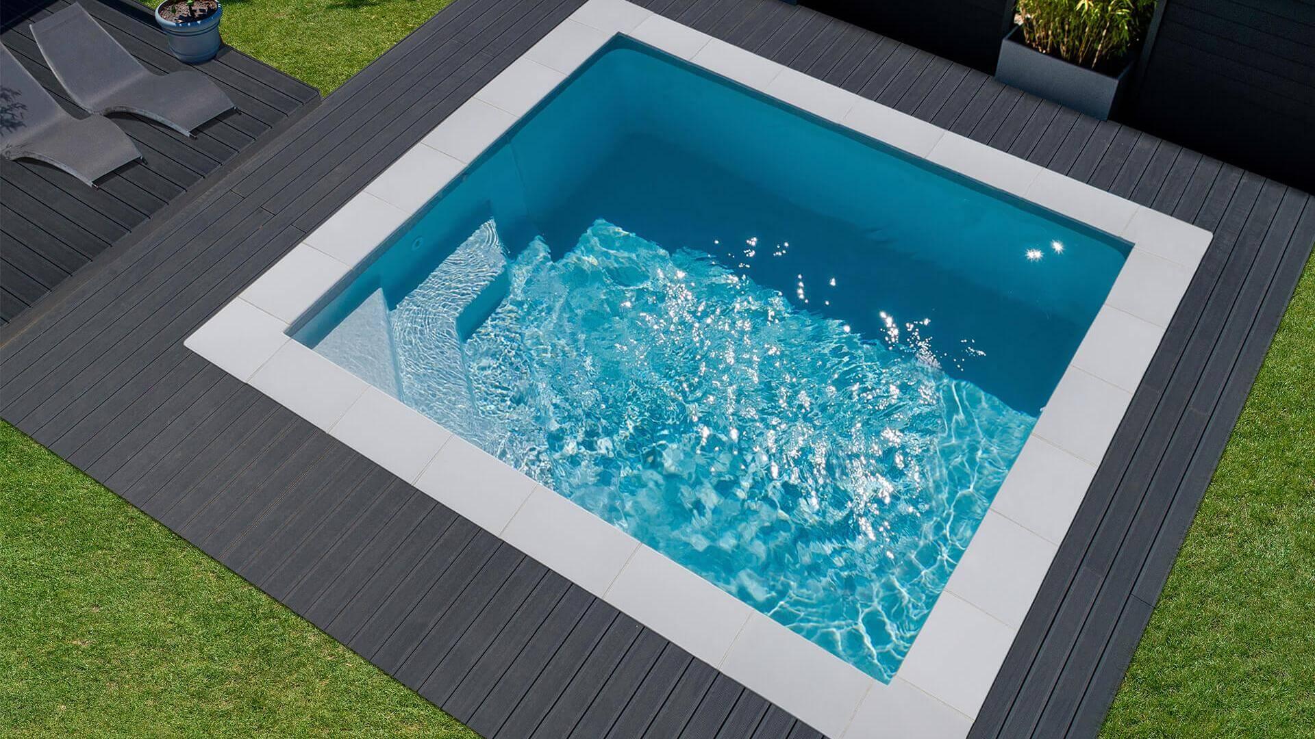 Kleiner Rechteckiger Pool Emilie Mini | Waterair Schwimmbäder concernant Spot Terrasse Piscine