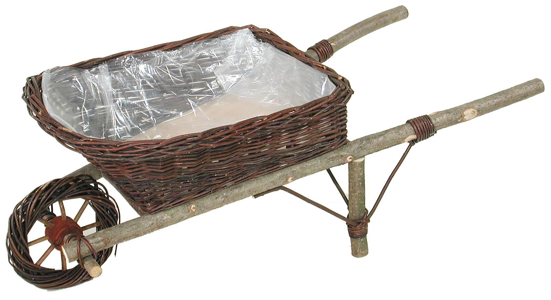 La Vannerie D'aujourd'hui - Jardinière Brouette Décorative Osier Brut serapportantà Brouette Décorative Pour Jardin