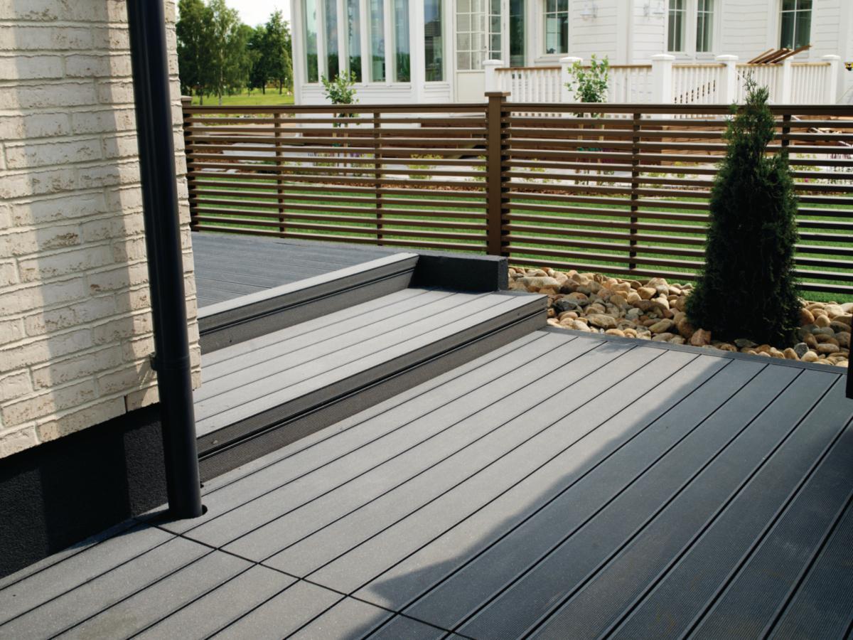 lame de terrasse en bois composite virginia gris 28 x 127