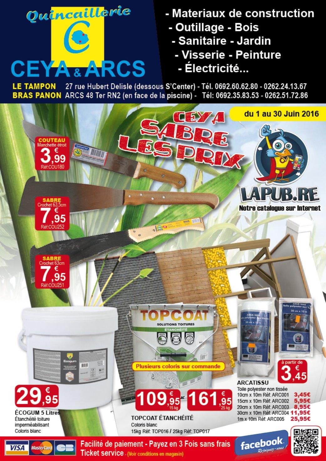 Lapub.re - Prospectus De Quincaillerie Ceya - Ceya Sabre Les ... tout Arcatissu