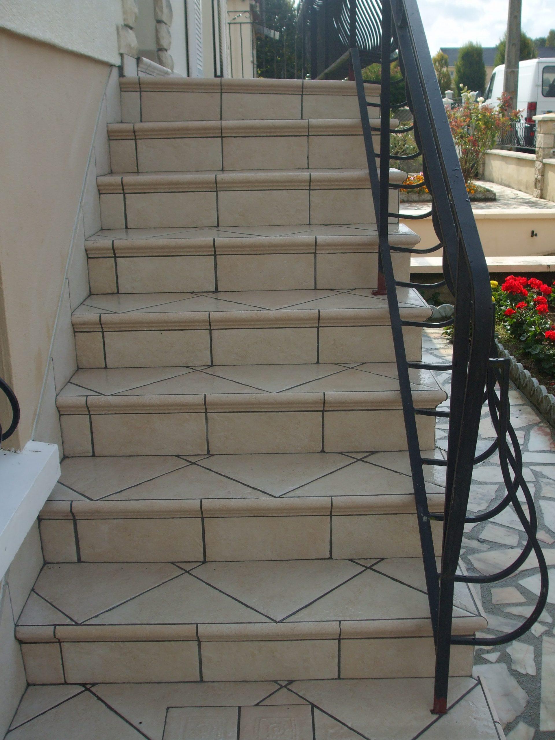 Les Escaliers Extérieurs - Sarl Papin Alainsarl Papin Alain à Carrelage Escalier Extérieur