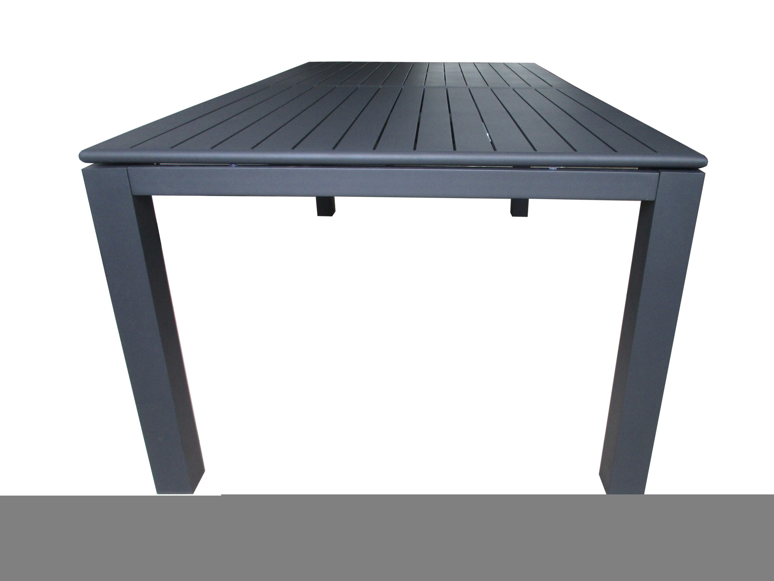 "L'estivalier - Table Extensible ""elen"" Anthracite L.220/320 Cm dedans Table De Jardin Extensible 320 Cm"