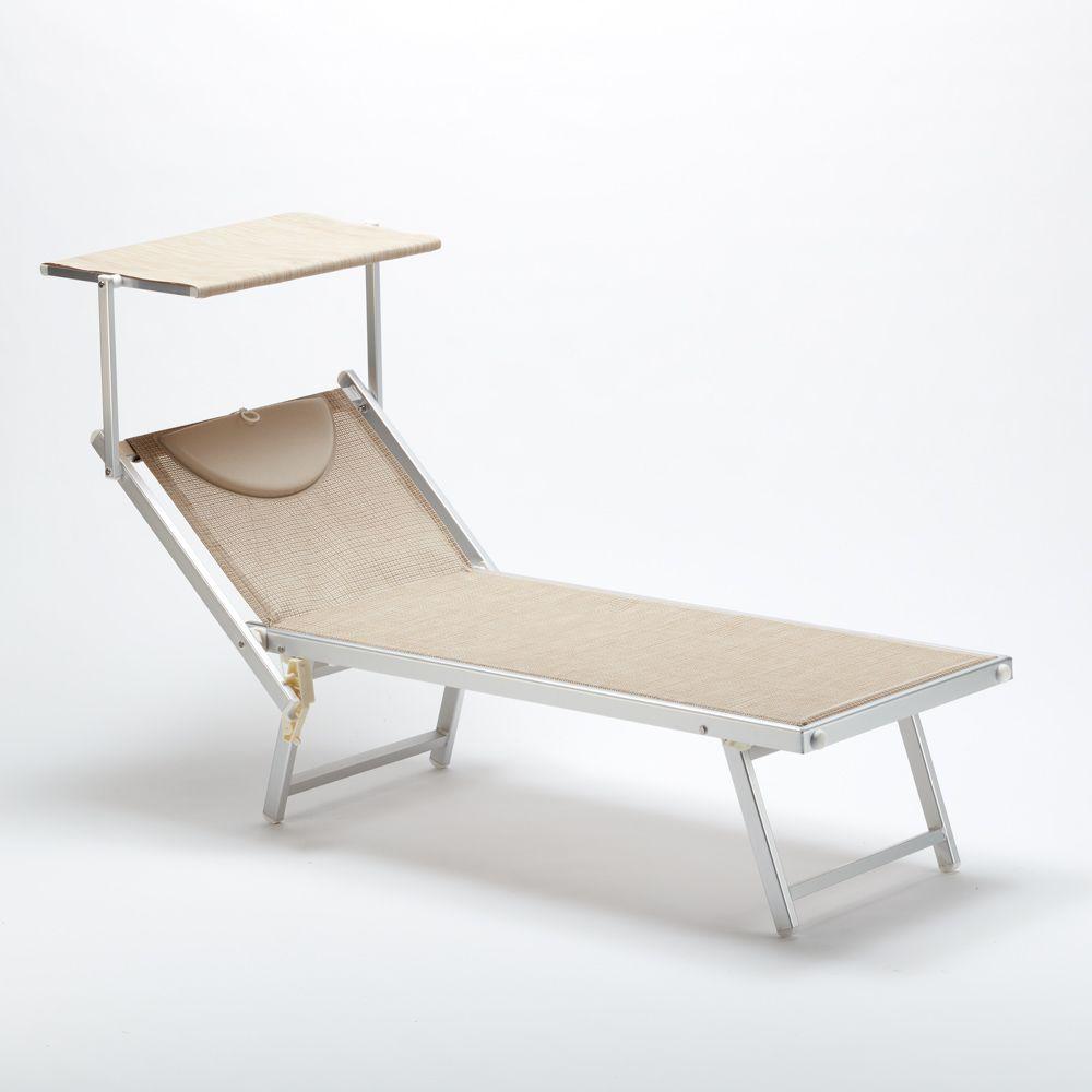 Lettino Spiaggia Mare Professionale In Alluminio E Textilene ... encequiconcerne Bain De Soleil Dream Pliant