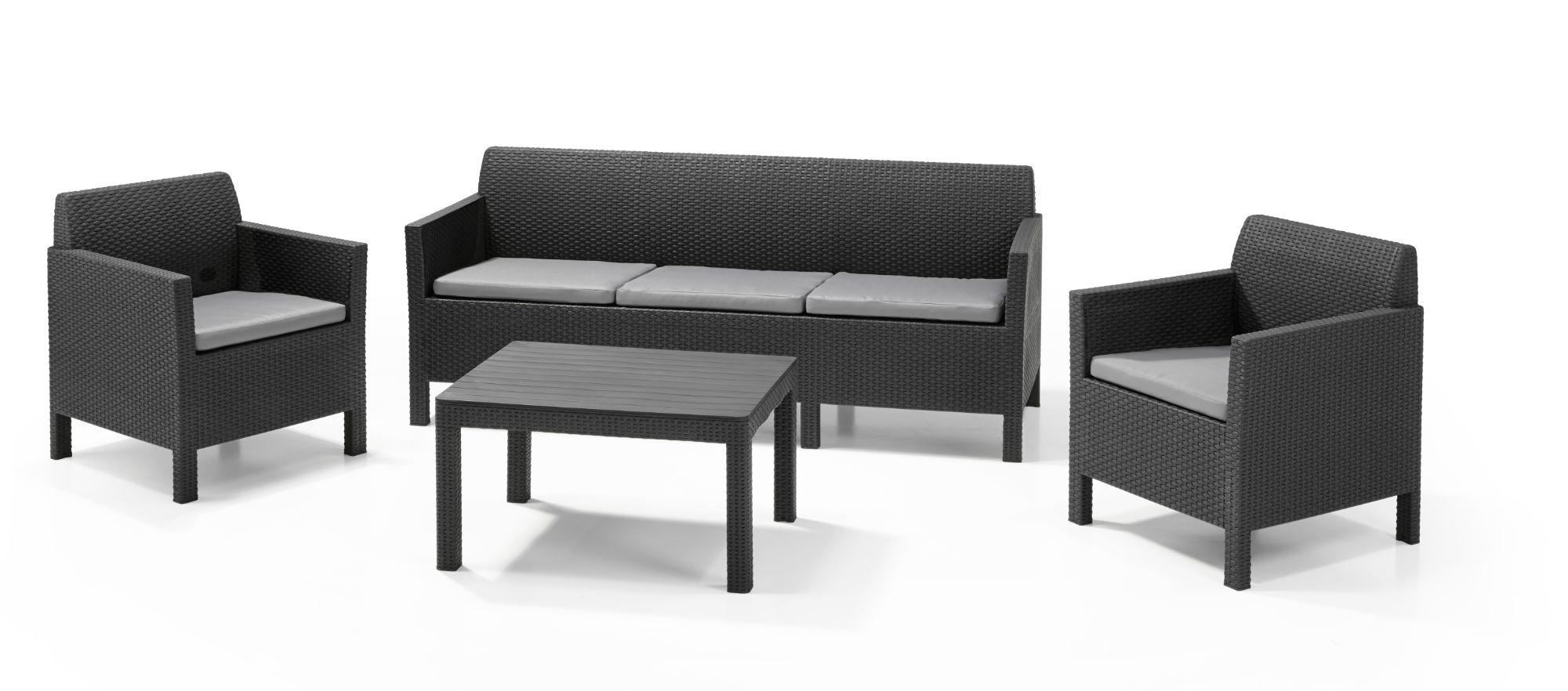 Loungemöbel | Lounge-Gartenmöbel | Lounge Sets - Allibert serapportantà Salon De Jardin Allibert Salta