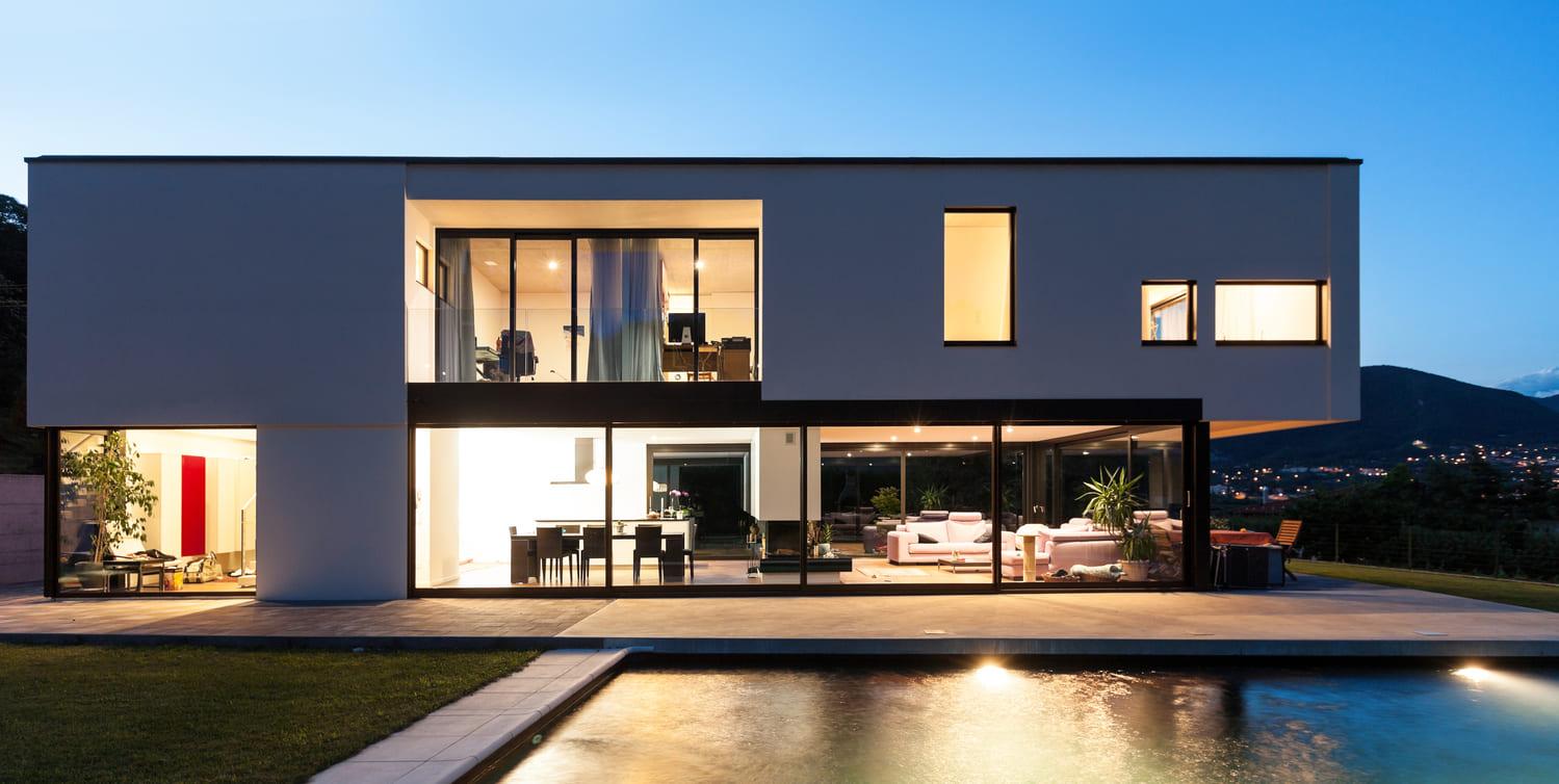 Prix Maison Toit Plat 120M2 | Idees Conception Jardin
