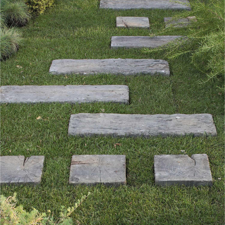 Matière Principale:pierre Reconstituée …   Traverses Jardin ... avec Pierre Reconstituée Imitation Bois
